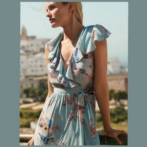 Anthropologie Rosalie Wrap Dress by Maeve